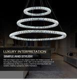 호텔 주거 3개의 반지 펀던트 램프 수정같은 샹들리에 빛