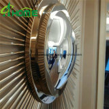Modern Hotsale Wholesale Wall Mirror / Iron Decoration Miroir rond / miroir mural de stock