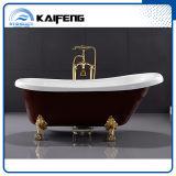 Bañera de acrílico clásica de Clawfoot del rojo de Upc (KF-721C)