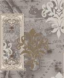 2017 Nuevo Papel pintado del vinilo de la decoración casera de lujo con diseño floral
