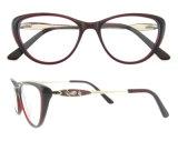 Dell'acetato del blocco per grafici i nuovi Eyewear vetri della Cina comerciano il telaio dell'ottica all'ingrosso dell'occhio di gatto delle donne