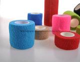 Bandagem elástica auto-adesiva colorida em diferentes especificações