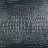 Cuero sintetizado vendedor caliente de la PU del cocodrilo de la manera 2017 para los muebles decorativos del zapato del bolso