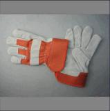 Voerde het Gespleten Leer van de koe half Volledige Palm die handschoen-3056.03 werken