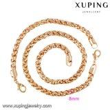 64024ファッションの上での主張の金は宝石類の鎖セットをめっきした