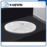 Baignoire ronde autonome pour deux personnes de luxe avec la portée (KF-759)