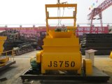 Double mélangeur concret horizontal de la bande Js750 pour la poudre de matériau de construction