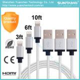 Câble de remplissage de 8pins USB de foudre neuve de caractéristiques pour l'iPhone