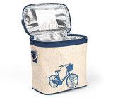自転車の漫画の簡易性のクーラー袋の機能キャンバスのショルダー・バッグ