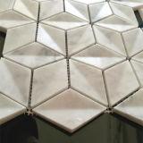 Venta caliente de Carrara blanco natural de la piedra de mármol mosaico de decoración de la pared