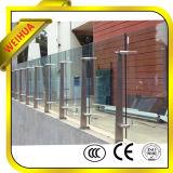 Weihua 2016 el vidrio Tempered popular de 6m m 8m m para las escaleras móviles y los pasamanos con precio bajo