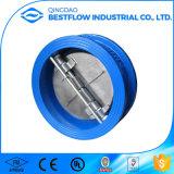 Klep van de Controle van het Type van Wafeltje van de Vlinder van de Plaat van het Gietijzer de Dubbele Dn50 Pn16 die in China wordt gemaakt