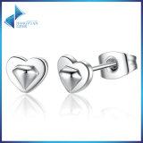 Nieuwe Inzameling 100% 925 Echte Zilveren Oorringen van de Nagel van het Hart