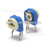 Resistor ajustável branco azul & amarelo