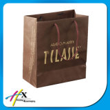 White & Brown Kraft Twist poignée sac de papier d'emballage