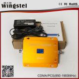 Faixa dupla impulsionador móvel do sinal de 850/1900 de megahertz CDMA/PCS com LCD
