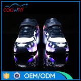 方法デザイン星子供のためのプリント・フィールLEDのローラースケートの靴
