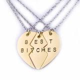 Лучшего друг сук женщин ожерелье шкентеля приятельства сердца Bff самого лучшего навсегда Split