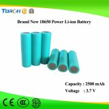 Hot Selling Haute qualité 3.7V 2500mAh batterie d'alimentation 18650 Lithium Cell
