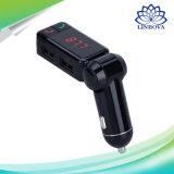 El kit sin manos Bc06 del transmisor del jugador de MP3 del kit del coche de Bluetooth FM con la visualización de LED se dobla cargador del USB