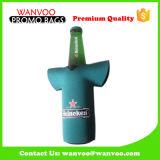 Porte-bouteilles de boissons de bière de sac de refroidisseur de bouteille de vin du néoprène de T-shirt de mode