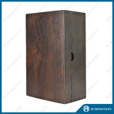 Botella de vino de la vendimia que empaqueta el rectángulo de madera (HJPWSB01)