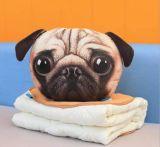 2 в 1 плюше заполнили напечатанное животное головное одеяло