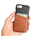 Caja del teléfono móvil de la ranura para tarjeta de Leahter para el iPhone 7/7plus