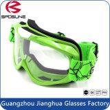 Mx Full Face Mask Customized Strap Anti Fog Lens óculos de moto de motocross verde