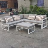 Im Freien Hotel-Sofa-Weidenpatio-Garten-Stuhl-Möbel-modernes justierbares Aluminiumsofa-Set