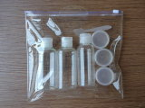 Sac fait sur commande recyclable zip-lock de PVC d'espace libre d'impression d'OEM