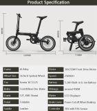 16 Zoll-Minifalz-elektrisches Fahrrad/verstecktes Fahrrad der Batterie-E