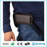 Горизонтальный кожаный случай телефона бумажника кобуры зажима пояса шкафута