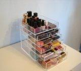 Organizador cosmético de acrílico del claro de la capacidad grande
