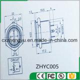 interruptor de tecla de 19mm com luz do diodo emissor de luz e função momentânea (cabeça lisa)