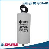Condensador Sh blanco plástico del condensador de corrida del motor de CA Cbb60