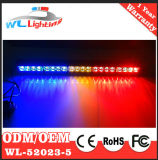 Luz vermelha ambarina azul da seta para caminhões