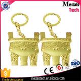 エポキシのロゴの昇進亜鉛合金の金の栓抜きのkeychain