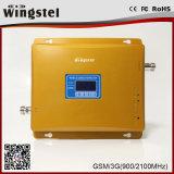 De dubbele Repeater van het Signaal van de Band 900/2100MHz 3G 4G Mobiele met Antenne