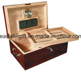 Kundenspezifischer eleganter Zigarrenschachtel-/Luftfeuchtigkeitsregler-/Zigarre-Großhandelskasten/Zigarre-Schrank (LW-JB03115)