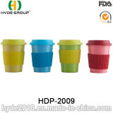 2016 fördernde bunte organische Bambusfaser-Kaffeetasse (HDP-2009)