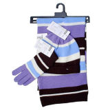 Striped шлем, перчатка и шарф (JRK124)