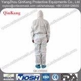 Cappotto non tessuto del laboratorio del tessuto del PE con i vestiti da lavoro microporosi/tuta