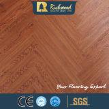 suelo de madera laminado laminado V-Grooved del entarimado del vinilo de 12.3m m HDF