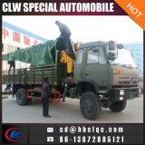 4X4 camion de grue de porte-fusée de la grue monté par camion militaire 3ton