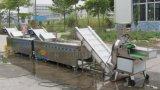 산업에게 자동적인 양배추 양상추 브로콜리 잎 샐러드 야채 절단기 절단 깎뚝썰고 및 세탁기 세척 선 기계