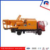 Bomba concreta de bombeamento longa Diesel e elétrica da manufatura da polia da distância com o misturador 800L (JBC40-L)