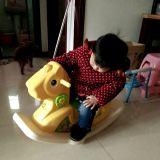 Le cheval 2017 d'oscillation en plastique de bébé de Wondeful joue (HBS17014B)