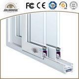 2017 puerta deslizante de la venta de la fábrica del precio de la fibra de vidrio UPVC del marco plástico barato caliente del perfil con los interiores de la parrilla