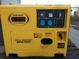 5kw 5kVAの空気によって冷却される無声電気開始の携帯用ディーゼル発電機